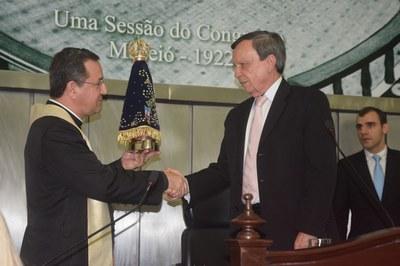 Deputado Luiz Dantas faz recepção da imagem de Nossa Senhora Aparecida.JPG