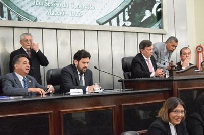 Mesa diretora foi formada pelos deputados Luiz Dantas, Marcos Barbosa, Isnaldo Bulhões e Ronaldo Medeiros.JPG