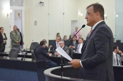 Deputado Galba Noves fez pronunciamento nesta quarta-feira.JPG