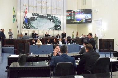 Sessão foi iniciada com a presença de 11 deputados.JPG