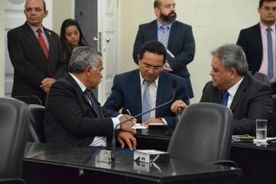 Deputados Tarcizo Freire, Francisco Tenório e Silvio Camelo.JPG