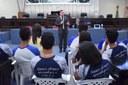 """Alunos da Escola Eunice Lemos Campos participam de mais uma etapa do """"Fale, Educação!"""""""