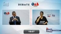Com ausência da Chapa 1, debate entre candidatos da OAB é convertido em entrevista com Fernando Falcão
