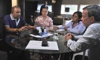 Luiz Dantas recebe presidente do Conselho Estadual de Saúde e acolhe demandas do setor