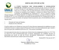 Edital de Convocação para eleição da Unale