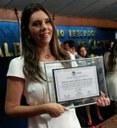 Jó Pereira é agraciada com a Comenda Selma Bandeira
