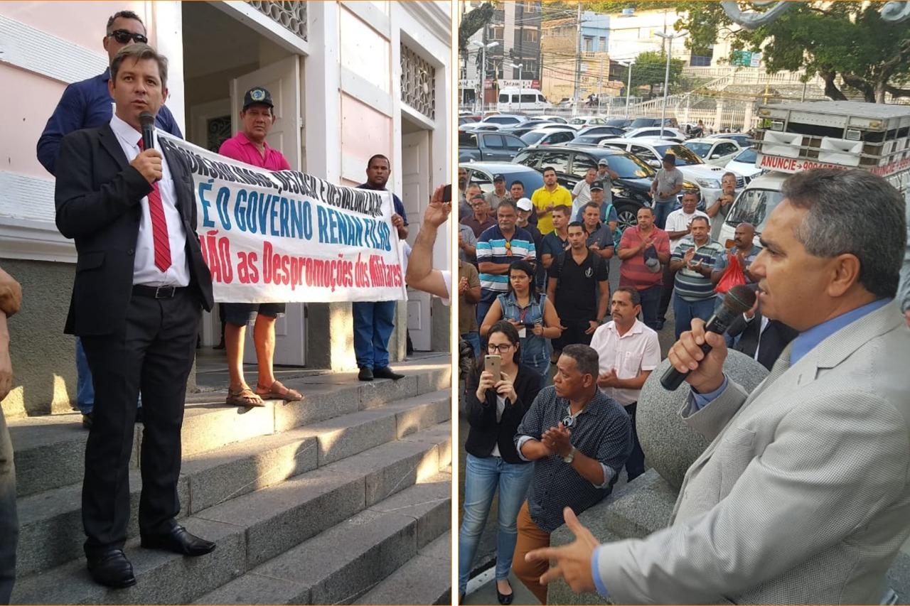 Militares buscam apoio da Assembleia para evitar despromoções