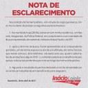 Nota de Esclarecimento emitida pelo deputado Inácio Loiola