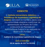Parlamento e Instituto Atlântico realizam evento sobre curso de Administração Pública
