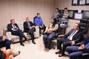 Ronaldo Medeiros recebe representantes dos conselhos de Administração