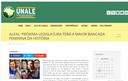 Site da Unale destaca matéria sobre eleição da maior bancada feminina da história